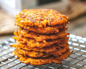 Sweet Potato Fritters (Latkes) For Babies & Toddlers