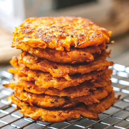 sweet potato latkes fritters