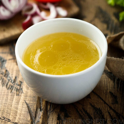 Baby broth baby stock with chicken featured image.