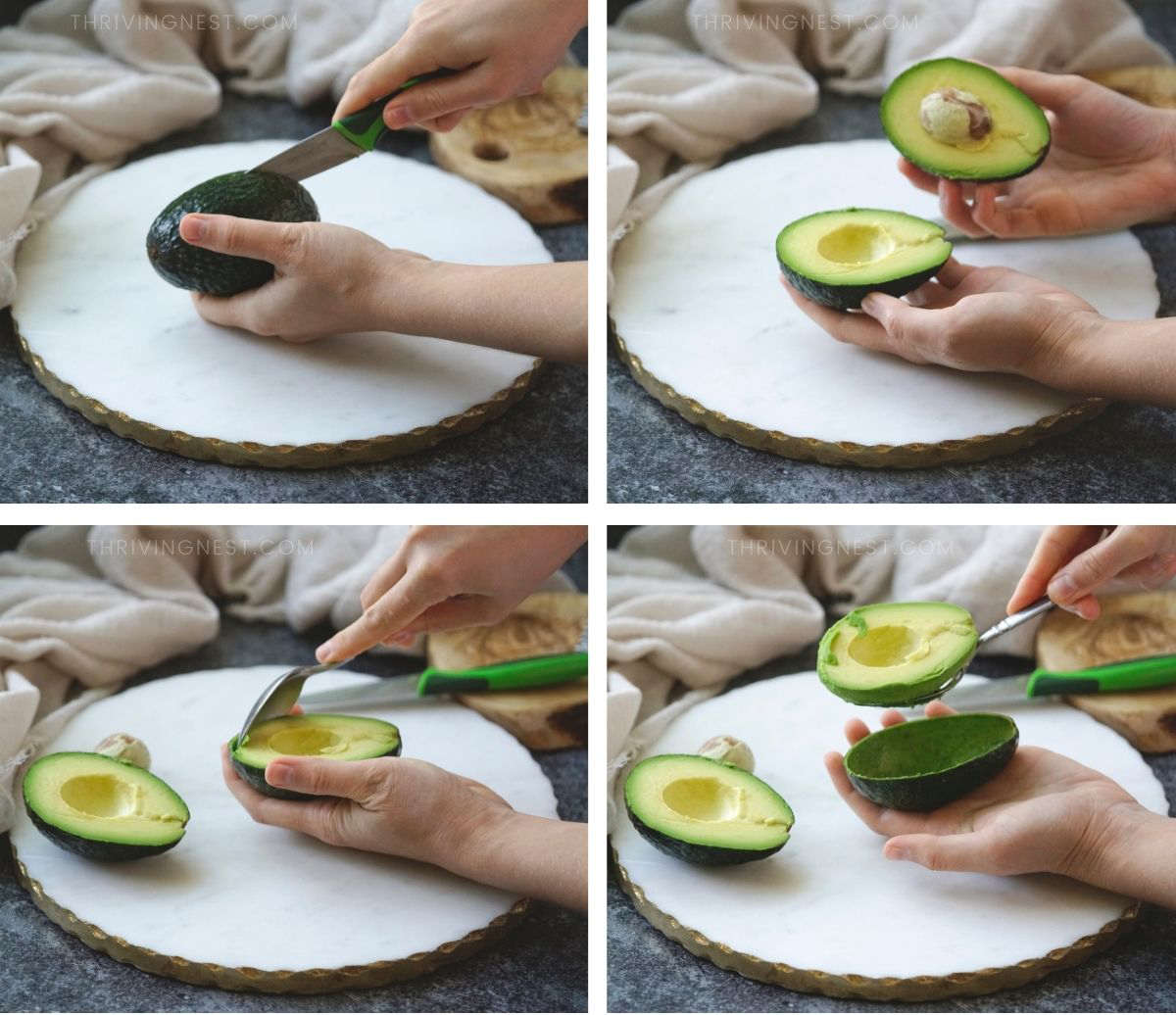 How to prepare avocado for baby - process shots.